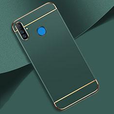 Schutzhülle Luxus Metall Rahmen und Kunststoff Schutzhülle Tasche M01 für Realme C3 Grün