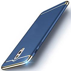 Schutzhülle Luxus Metall Rahmen und Kunststoff Schutzhülle Tasche M01 für Samsung Galaxy C8 C710F Blau