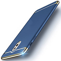 Schutzhülle Luxus Metall Rahmen und Kunststoff Schutzhülle Tasche M01 für Samsung Galaxy J7 Plus Blau