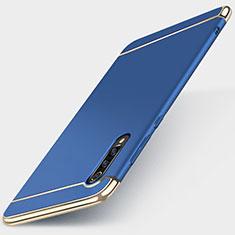 Schutzhülle Luxus Metall Rahmen und Kunststoff Schutzhülle Tasche M01 für Xiaomi Mi 9 Lite Blau