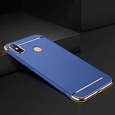 Schutzhülle Luxus Metall Rahmen und Kunststoff Schutzhülle Tasche M01 für Xiaomi Mi Max 3 Blau