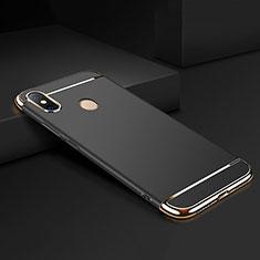 Schutzhülle Luxus Metall Rahmen und Kunststoff Schutzhülle Tasche M01 für Xiaomi Mi Max 3 Schwarz