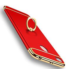 Schutzhülle Luxus Metall Rahmen und Kunststoff Schutzhülle Tasche M01 für Xiaomi Redmi 4X Rot