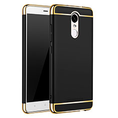 Schutzhülle Luxus Metall Rahmen und Kunststoff Schutzhülle Tasche M01 für Xiaomi Redmi Note 3 Pro Schwarz