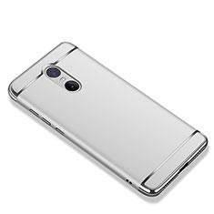 Schutzhülle Luxus Metall Rahmen und Kunststoff Schutzhülle Tasche M01 für Xiaomi Redmi Note 4 Silber