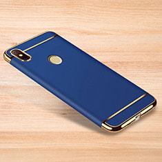 Schutzhülle Luxus Metall Rahmen und Kunststoff Schutzhülle Tasche M01 für Xiaomi Redmi Note 6 Pro Blau