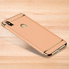 Schutzhülle Luxus Metall Rahmen und Kunststoff Schutzhülle Tasche M01 für Xiaomi Redmi Note 6 Pro Gold