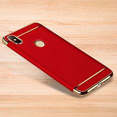 Schutzhülle Luxus Metall Rahmen und Kunststoff Schutzhülle Tasche M01 für Xiaomi Redmi Note 6 Pro Rot