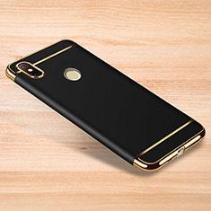 Schutzhülle Luxus Metall Rahmen und Kunststoff Schutzhülle Tasche M01 für Xiaomi Redmi Note 6 Pro Schwarz