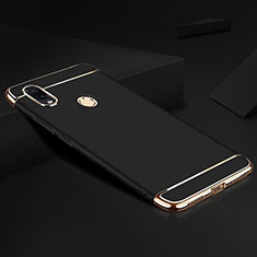 Schutzhülle Luxus Metall Rahmen und Kunststoff Schutzhülle Tasche M01 für Xiaomi Redmi Note 7 Pro Schwarz