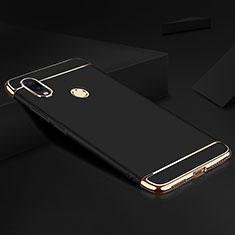 Schutzhülle Luxus Metall Rahmen und Kunststoff Schutzhülle Tasche M01 für Xiaomi Redmi Note 7 Schwarz
