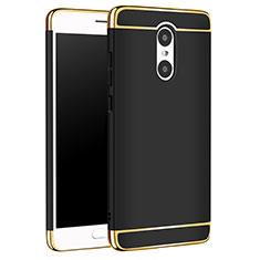 Schutzhülle Luxus Metall Rahmen und Kunststoff Schutzhülle Tasche M01 für Xiaomi Redmi Pro Schwarz