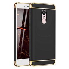 Schutzhülle Luxus Metall Rahmen und Kunststoff Schutzhülle Tasche M02 für Xiaomi Redmi Note 4 Schwarz