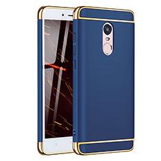 Schutzhülle Luxus Metall Rahmen und Kunststoff Schutzhülle Tasche M02 für Xiaomi Redmi Note 4X High Edition Blau