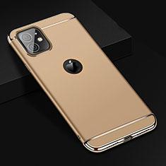 Schutzhülle Luxus Metall Rahmen und Kunststoff Schutzhülle Tasche T01 für Apple iPhone 11 Gold