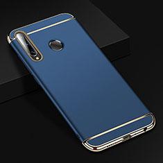 Schutzhülle Luxus Metall Rahmen und Kunststoff Schutzhülle Tasche T01 für Huawei Honor 20 Lite Blau