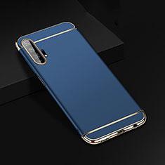 Schutzhülle Luxus Metall Rahmen und Kunststoff Schutzhülle Tasche T01 für Huawei Honor 20 Pro Blau