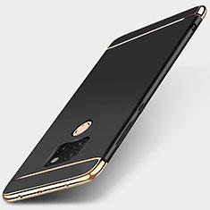 Schutzhülle Luxus Metall Rahmen und Kunststoff Schutzhülle Tasche T01 für Huawei Mate 20 Schwarz