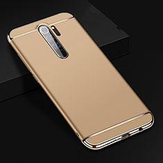 Schutzhülle Luxus Metall Rahmen und Kunststoff Schutzhülle Tasche T01 für Xiaomi Redmi Note 8 Pro Gold