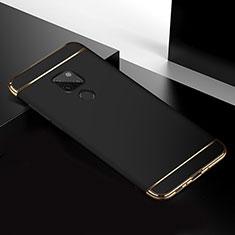 Schutzhülle Luxus Metall Rahmen und Kunststoff Schutzhülle Tasche T02 für Huawei Mate 20 Schwarz