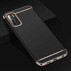 Schutzhülle Luxus Metall Rahmen und Kunststoff Schutzhülle Tasche T02 für Oppo Find X2 Lite Schwarz