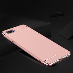 Schutzhülle Luxus Metall Rahmen und Silikon Schutzhülle Tasche M02 für Oppo K1 Rosegold