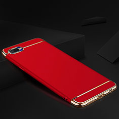 Schutzhülle Luxus Metall Rahmen und Silikon Schutzhülle Tasche M02 für Oppo R15X Rot