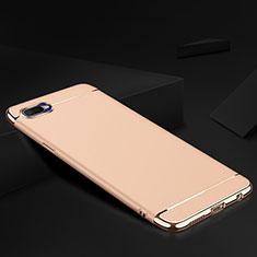 Schutzhülle Luxus Metall Rahmen und Silikon Schutzhülle Tasche M02 für Oppo R17 Neo Gold