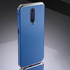 Schutzhülle Luxus Metall Rahmen und Silikon Schutzhülle Tasche M02 für Oppo R17 Pro Blau