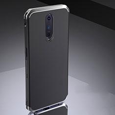 Schutzhülle Luxus Metall Rahmen und Silikon Schutzhülle Tasche M02 für Oppo R17 Pro Silber