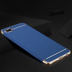 Schutzhülle Luxus Metall Rahmen und Silikon Schutzhülle Tasche M02 für Oppo RX17 Neo Blau