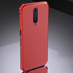 Schutzhülle Luxus Metall Rahmen und Silikon Schutzhülle Tasche M02 für Oppo RX17 Pro Rot