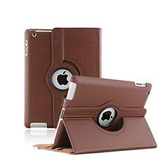 Schutzhülle Rotierende Tasche Leder für Apple iPad 2 Braun