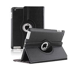 Schutzhülle Rotierende Tasche Leder für Apple iPad 2 Schwarz