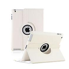 Schutzhülle Rotierende Tasche Leder für Apple iPad 2 Weiß