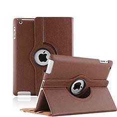 Schutzhülle Rotierende Tasche Leder für Apple iPad 3 Braun