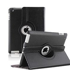 Schutzhülle Rotierende Tasche Leder für Apple iPad 3 Schwarz