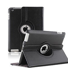 Schutzhülle Rotierende Tasche Leder für Apple iPad 4 Schwarz