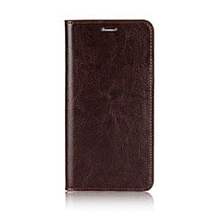 Schutzhülle Stand Tasche Leder F01 für Apple iPhone Xs Braun