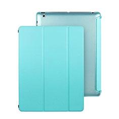 Schutzhülle Stand Tasche Leder für Apple iPad 2 Hellblau
