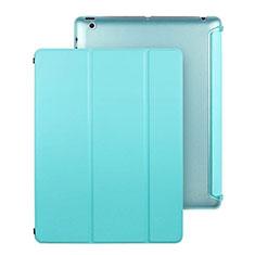 Schutzhülle Stand Tasche Leder für Apple iPad 3 Hellblau