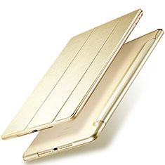 Schutzhülle Stand Tasche Leder für Apple New iPad 9.7 (2017) Gold
