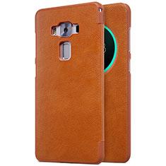 Schutzhülle Stand Tasche Leder für Asus Zenfone 3 Deluxe ZS570KL ZS550ML Braun