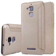 Schutzhülle Stand Tasche Leder für Asus Zenfone 3 Max Gold