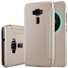 Schutzhülle Stand Tasche Leder für Asus Zenfone 3 ZE552KL Gold