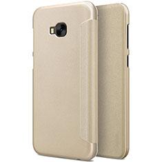 Schutzhülle Stand Tasche Leder für Asus Zenfone 4 Selfie Pro Gold