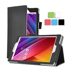 Schutzhülle Stand Tasche Leder für Asus ZenPad C 7.0 Z170CG Schwarz
