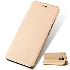 Schutzhülle Stand Tasche Leder für Huawei GR5 Mini Gold
