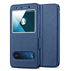Schutzhülle Stand Tasche Leder für Huawei Honor 4X Blau