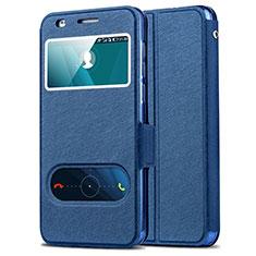 Schutzhülle Stand Tasche Leder für Huawei Honor 6 Blau
